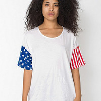 American Apparel - Unisex Stars and Stripes Printed Le New Big Tee