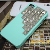 Cell Phone Hard Case Cover With Silvery Stud For iPhone 4 4s 4g