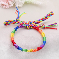 Gay Pride Multicolor Braided Bracelet