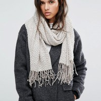 ALDO Knitted Zig Zag Oblong Scarf at asos.com