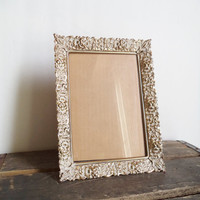 Vintage Ornate Brass Metal Frame Picture Frame wedding table display 5x7 Home Decor