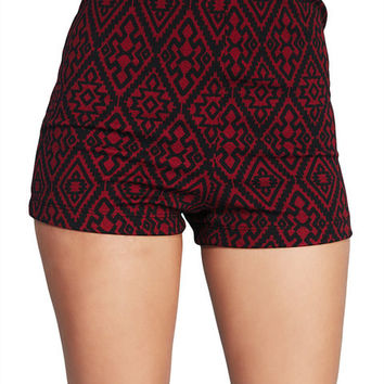 Turn Up The Tribal Printed Shorts | Wet Seal