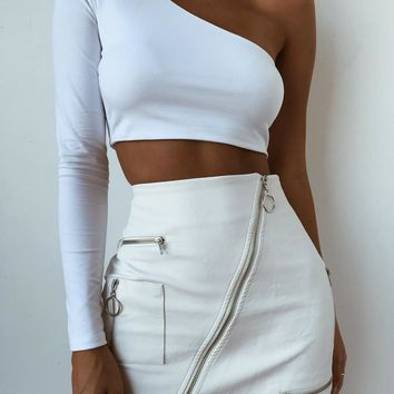 Buy Our Courtney Skirt 2.0 in White Online Today! - Tiger Mist