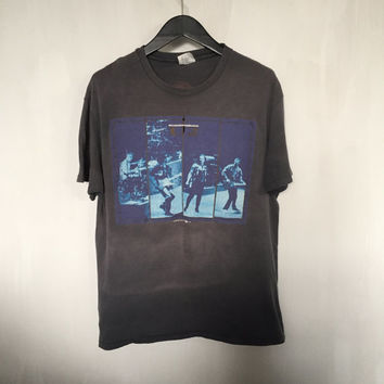 U2 shirt 80s vintage band shirt U2 Joshua Tree 1987 tour t shirt distressed band t-shirts rock tees concert t-shirt faded black tshirt large