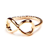 Rose Gold Infinity Knuckle Ring