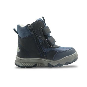 Winter Boys Boots Waterproof Kids Ankle Snow Boots with Lining Warm Plush Children's Shoes with Anti-Snow Cloth