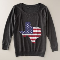 Abstract USA Flag Art Plus Size Sweatshirt