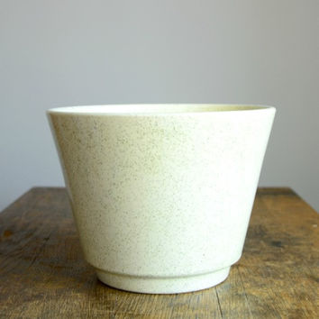 Vintage Speckled White Planter