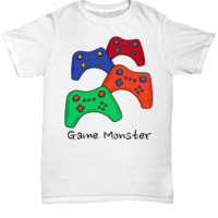 Game Monster Tee ~ Video Gamer Shirt
