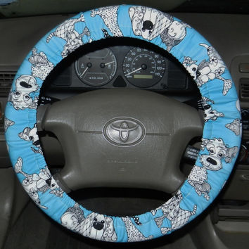 Happy Dogs Steering Wheel Cover