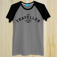 "New ""Time Traveller"" Vintage style Tshirt-Typography-Men Clothing-Unisex-Graphic tee"