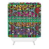 Romi Vega Flowers Print Color Shower Curtain