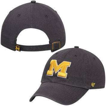 Michigan Wolverines '47 Brand NCAA Clean Up Adjustable Hat - Navy Blue