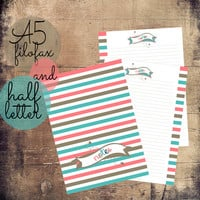 A5/ Half Letter Printable Notes, Notes Filofax Inserts, A5 Refills, Half Letter Inserts
