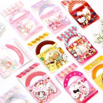 Cute Cartoon Hello Kitty Melody Twinstar Decorative Stationery Stickers Scrapbooking DIY Stickers Diary Album Stick Label