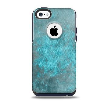 The Grungy Bright Teal Surface Skin for the iPhone 5c OtterBox Commuter Case