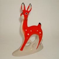 Vintage Porcelain Figurine of Young Deer Made in 70s in USSR