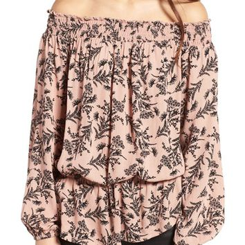 Love, Fire Floral Off the Shoulder Top | Nordstrom