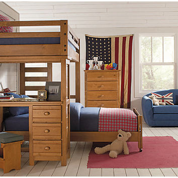 Creekside Taffy Twin Full Student Loft Bedroom w Desk
