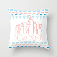 shapes of new york Throw Pillow by Molly Ennis