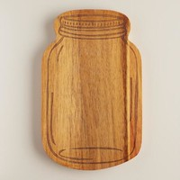 Wood Mason Jar Cutting Board