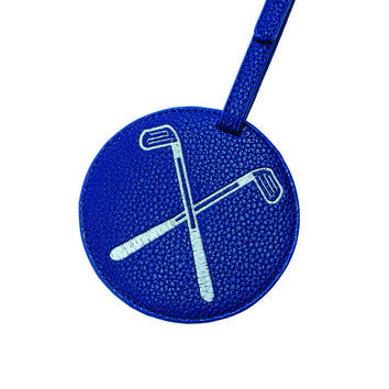 Toss Tee Time Golf Luggage Tag - Navy