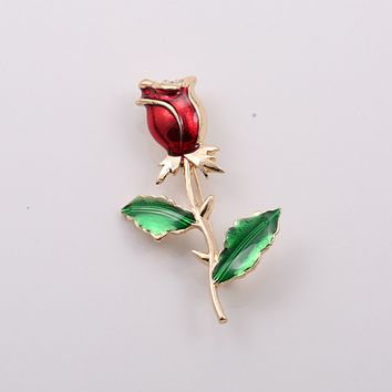 Vintage Rose Flower Brooch Women Retro Collocation Accessories