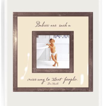 "Babies Are Such Nice Ways 3""x 3"" Copper & Glass Photo Frame"