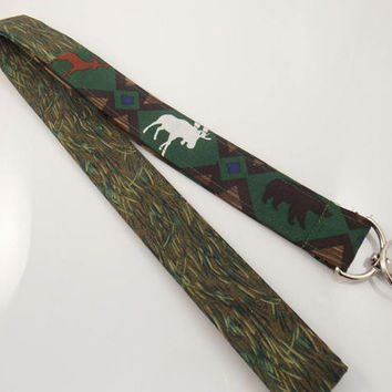 Moose Lanyard Deer Lanyard Bear Lanyard Teacher Lanyard Nurse Lanyard Work Lanyard ID Badge Holder Key Lanyard Moose Key Holder