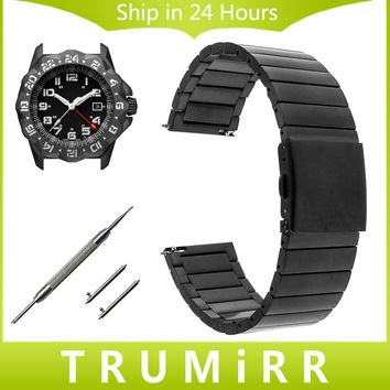 Quick Release Stainless Steel Watch Band 22mm 23mm for Luminox Men Women Wrist Strap Link Bracelet + Push Button Folding Buckle