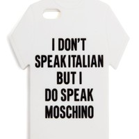 MOSCHINO | Speak Moschino iPhone 5 Case | Browns fashion & designer clothes & clothing