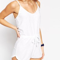 ASOS Towelling Cami Strap Beach Playsuit