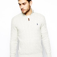 Polo Ralph Lauren Silk Jumper With Half Zip
