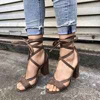 HIZCINTH 2018 Summer Sandals Women High Heels Gladiator Sandals Women's Shoes Ankle Strap Lace-up Sexy Pumps Sandali Eleganti
