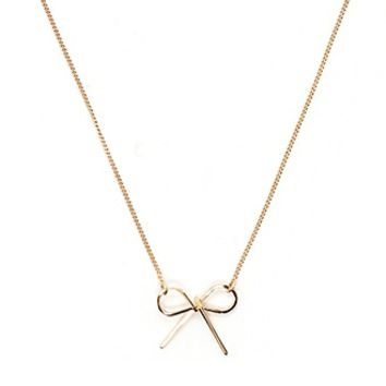 Ribbon Pendant Necklace