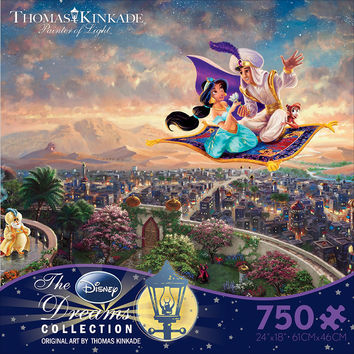 Thomas Kinkade Aladdin 750 Piece Jigsaw Puzzle in Ceaco's Disney Collection