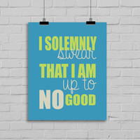 Harry Potter Print - I solemnly swear, Harry Potter Fan, 8x10 Typography Digital Download Print, Instant Download, Home Decor