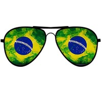 'Brazilian Flag Sunglasses' by Swigalicious