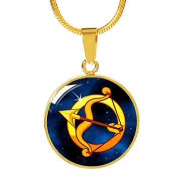Zodiac Sign Sagittarius - 18k Gold Finished Luxury Necklace