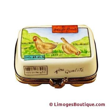 EGGS IN CARTON LIMOGES BOX