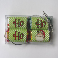 "CANDY BOX ,CHRISTMAS,clear plastic,party favor,size 5""x3"""
