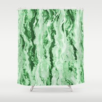 Emerald Melt Shower Curtain by Lisa Argyropoulos | Society6