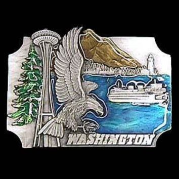 Sports Accessories - Washington Eagle Enameled Belt Buckle