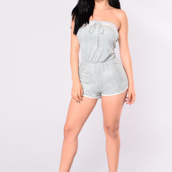 High & Dry Terry Romper - Sage