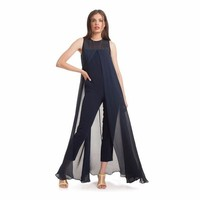 PEAPUNT 2016 New Fashion Jumpsuits Sexy Women Clothing Ankle-Length Pants O Neck Sleeveless Casual Chiffon Summer Clothing Hot Sale
