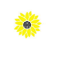 Sunflower Monogram Decal | Flower Monogram Decal | Car Decal | Yeti Decal | Flower Sticker | Monogram Sticker | Floral | Summer