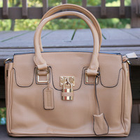 Tan Square Handbag