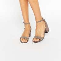 New Look Suede Barely There Heeled Sandals