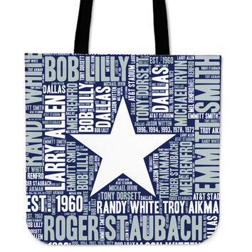 Dallas Wordcloud Tote Bag