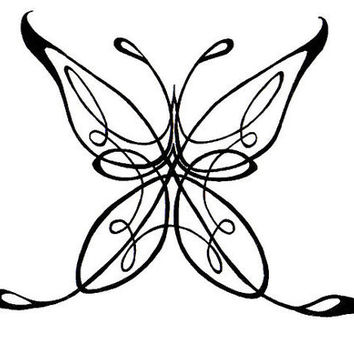Celtic Butterfly Car Decal, Computer Decal, Wall Decal, Black, Turquoise, Blue, Pink, Green, Yellow, Purple, Red